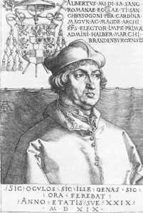 Cardinal Albrecht, Durer (1519)