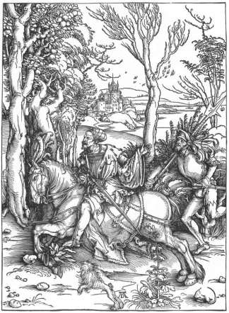 Knight and Landsknecht, Durer (1538)