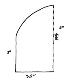 Split Brim - basic pattern shape